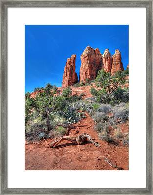 Cathedral Rock Framed Print by Lori Deiter