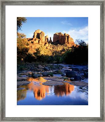 Cathedral Rock Sedona Az Usa Framed Print by Panoramic Images