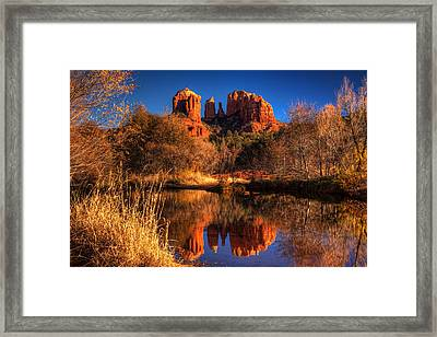 Cathedral Rock Framed Print by Tom Weisbrook