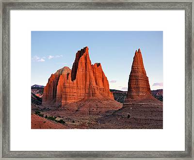 Cathedral Sunrise Framed Print by Leland D Howard