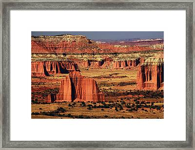 Cathedral Valley, Upper Cathedral Framed Print by Michel Hersen