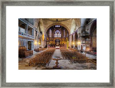 Cathedrale Saint-etienne Interior / Cahors Framed Print by Barry O Carroll