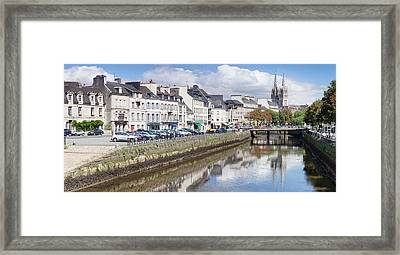 Cathedrale St-corentin Reflecting Framed Print by Panoramic Images