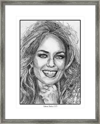 Catherine Bach In 1979 Framed Print by J McCombie