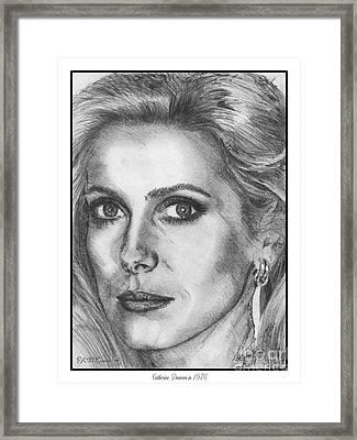 Catherine Deneuve In 1976 Framed Print by J McCombie