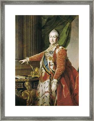 Catherine II The Great 1729-1796. Oil Framed Print by Everett