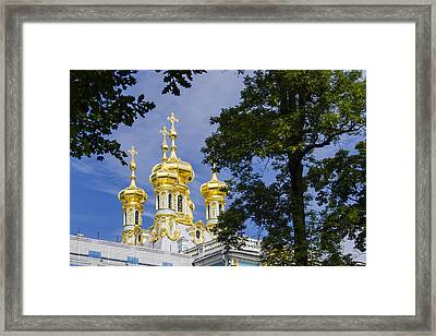 Catherine Palace  Cupolas - St Petersburg Russia Framed Print by Jon Berghoff