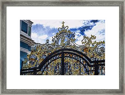 Catherine Palace Entry Gate - St Petersburg Russia Framed Print by Jon Berghoff