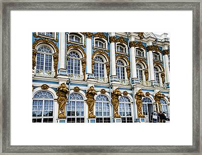Catherine Palace Facade - St Petersburg  Russia Framed Print by Jon Berghoff