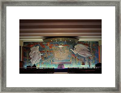 Catholic Chapel At Air Force Academy Framed Print by Paulette B Wright