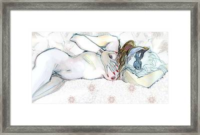 Catlady Framed Print by Carolyn Weltman