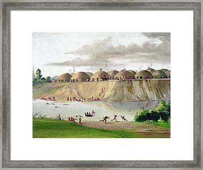 Catlin Hidatsa Village Framed Print by Granger