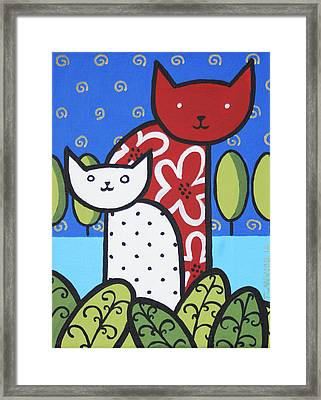 Cats 1 Framed Print by Trudie Canwood