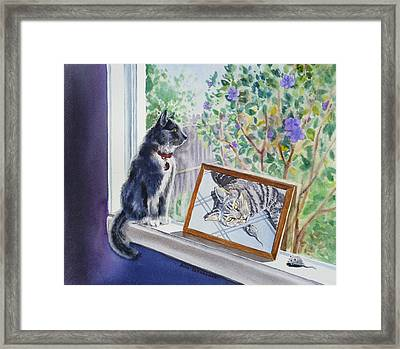 Cats And Mice Sweet Memories Framed Print by Irina Sztukowski