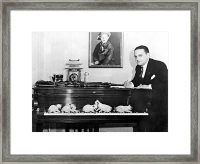 Cats Composing Framed Print by Underwood Archives