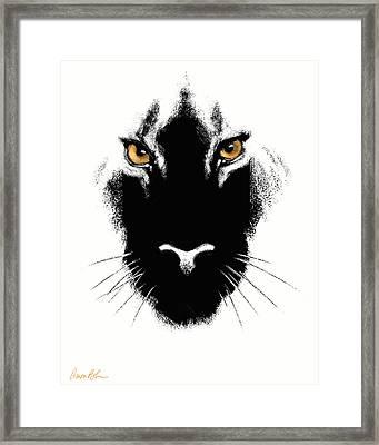 Cat's Eyes Framed Print by Aaron Blaise