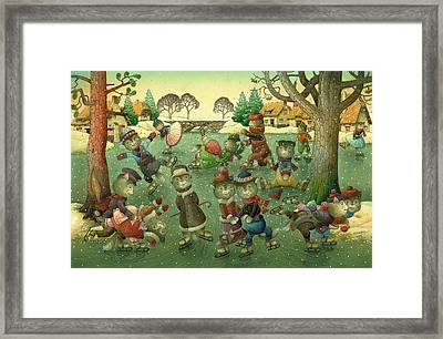 Cats On Skates Framed Print by Kestutis Kasparavicius