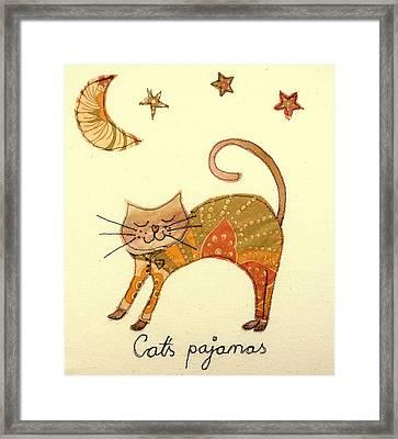 Cats Pajamas Framed Print by Hazel Millington