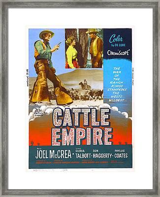 Cattle Empire, Us Poster, Joel Mccrea Framed Print by Everett