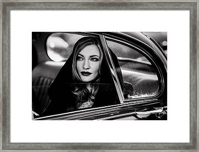 Caught In A Moment Of Absence... Framed Print by Peter M?ller Photography