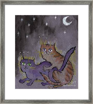 Caught In Act Framed Print by Angel  Tarantella