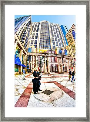 Caught In The Geometry Of Boylston Street Framed Print by Mark E Tisdale