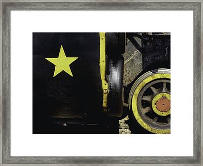 Cause Out On The Edge Of Darkness There Rides A Peace Train.. Framed Print by A Rey