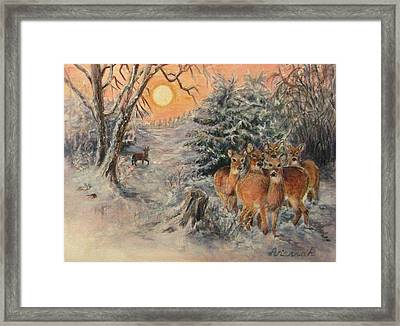 Caution And Curiosity Framed Print by Ursula Brozovich