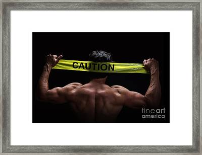 Caution Framed Print by Jane Rix