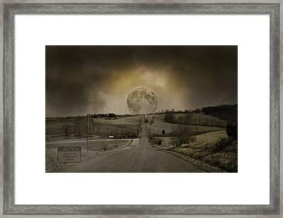 Caution Road Framed Print by Betsy C Knapp