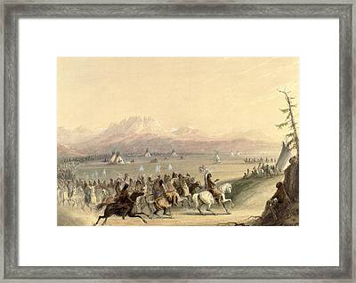 Cavalcade Framed Print by Alfred Jacob Miller