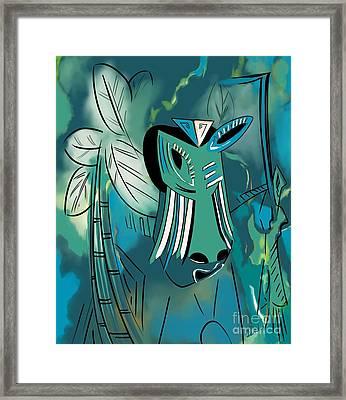 Cavamoru Framed Print by Barbara Drake