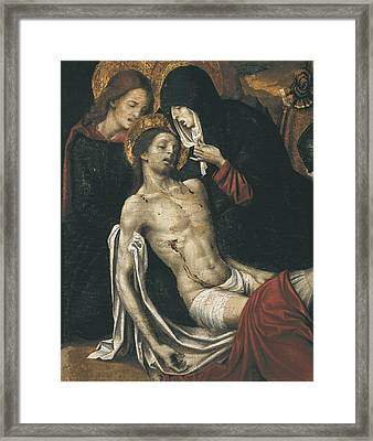Cavaro, Pietro -1538. Descent. Beg Framed Print by Everett