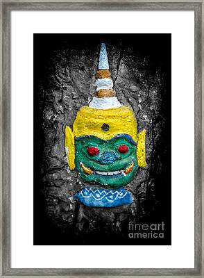 Cave Face 1 Framed Print by Adrian Evans