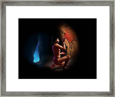 Cave Painting Framed Print by David Gifford