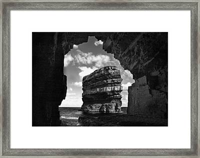 Cave With A View Framed Print by Tony Reddington