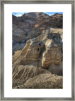 Caves Of Qumran Framed Print by Don Wolf