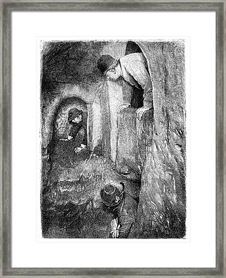 Caving In Switzerland Framed Print by Science Photo Library