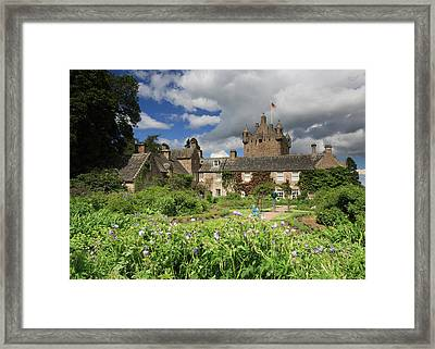 Cawdor Castle And Garden Framed Print by Maria Gaellman