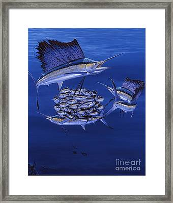 Cayman Reef 5 Off00127 Framed Print by Carey Chen