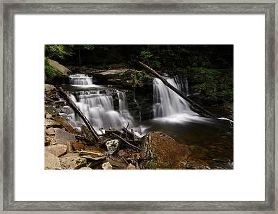 Cayuga Waterfalls Framed Print by David Simons