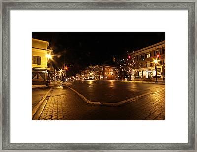 Cazenovia Center Framed Print by John   Kennedy