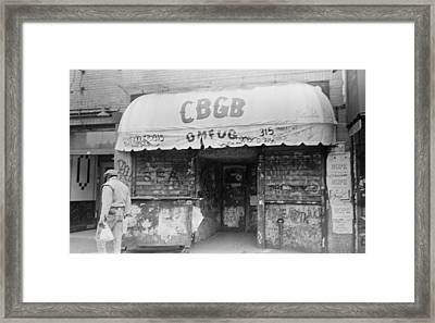 Cbgb Omfug On The Bowery New York City 1989 Framed Print by Anthony Troncale