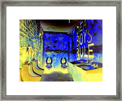 Cbgb's Notorious Mens Room Framed Print by Ed Weidman