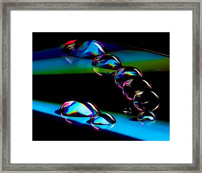 Cd Lineup Framed Print by Jean Noren