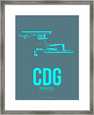 Cdg Paris Airport Poster 1 Framed Print by Naxart Studio