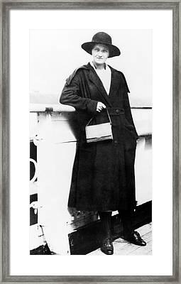 Cecilia Payne-gaposchkin Framed Print by Emilio Segre Visual Archives/american Institute Of Physics