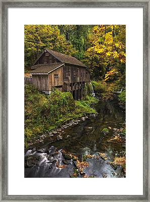 Cedar Creek Grist Mill 2 Framed Print by Mark Kiver