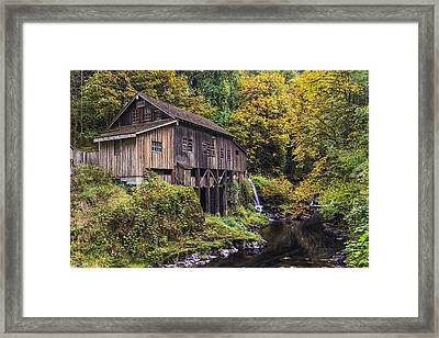 Cedar Creek Grist Mill Framed Print by Mark Kiver