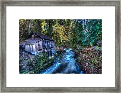 Cedar Creek Grist Mill Framed Print by Puget  Exposure